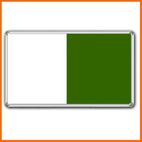 white board with green board view specifications