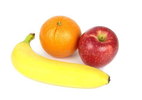 apple and banana orange apple and banana isolated on white background