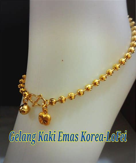 Gelang Kaki By Mds Shop gelang kaki emas korea 24k celup 19 end 3 8 2017 2 15 pm