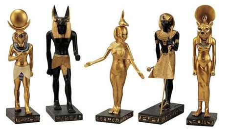 decorative figurines for home ancient egyptian collection statue of horus anubis serqet