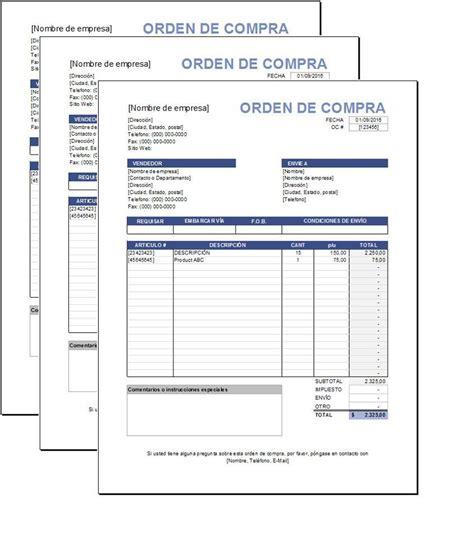 formulario orden de compra sistema de cotizaciones