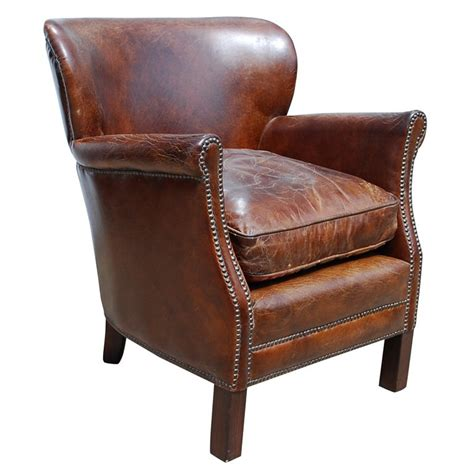 Small Leather Armchair small leather armchair at 1stdibs