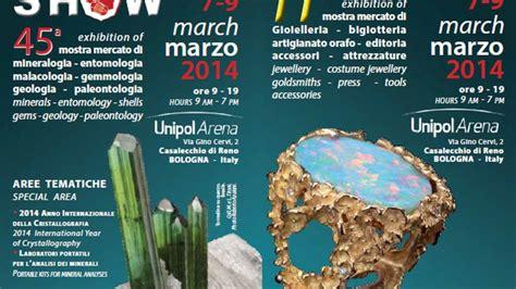unipol castel san pietro terme bologna mineral show all unipol arena dal 7 al 9 marzo