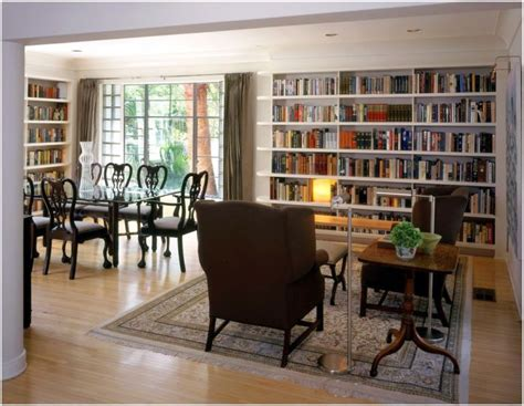 Bookshelves In Dining Room by Simple But Attractive Bookshelves Decoration In Dining Room