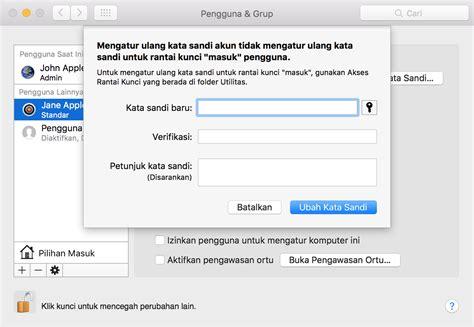 apakah membuat apple id bayar mengubah dan mengatur ulang kata sandi akun pengguna macos