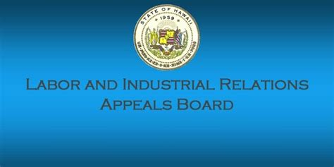 Workers Compensation Appeals Board Search Labor And Industrial Relations Appeals Board