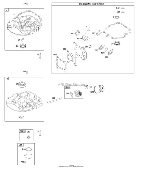 briggs and stratton 121s12 0008 f1 parts diagram for gasket set engine sump