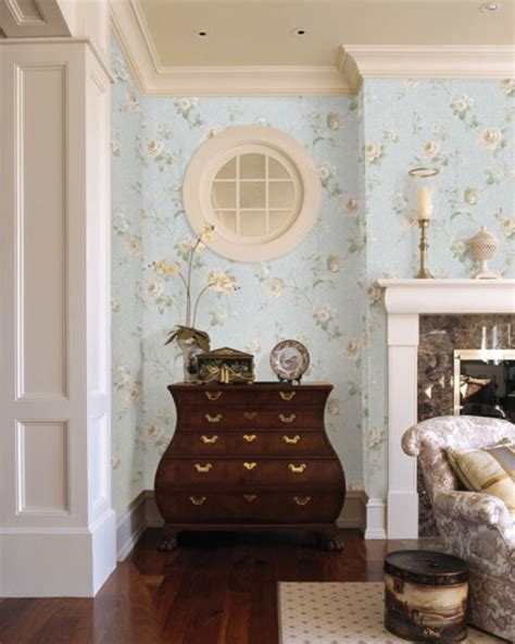 wallpaper for classic living room blue floral wallpaper traditional living room other