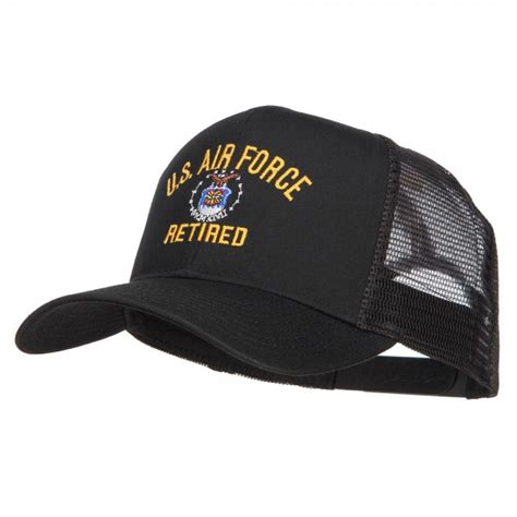Us Air Forces Cap Black embroidered cap black us air retired mesh cap