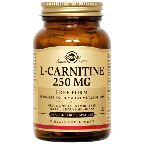 l carnitine vegetables l carnitine 250 mg 90 vegetable capsules solgar day of