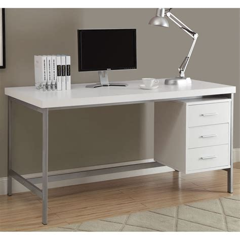 White Computer Desk by This Office Desk Is Ideal For Home Or Business Use The