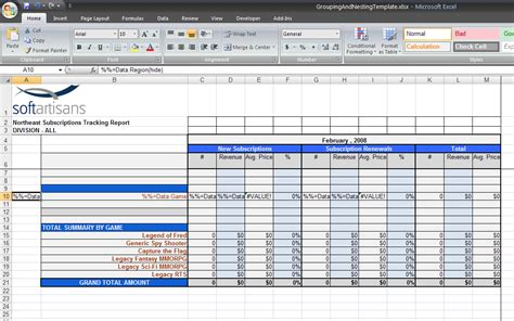 Grouping And Nesting Sle Excelwriter V8 Docs Officewriter Docs Use Template Excel
