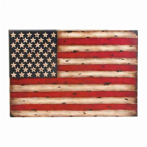 American Wall Decor by Shop Woodland Imports 38 In W X 26 In H Frameless Metal