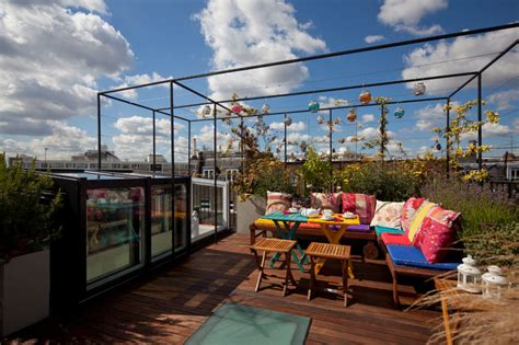 the terrace mediterranean kitchen pimlico roof terrace