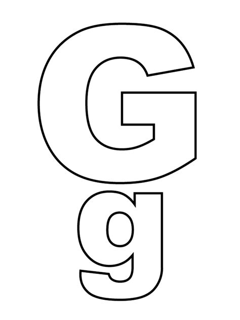 lowercase letter g coloring page letters and numbers letter g capital letters and lowercase