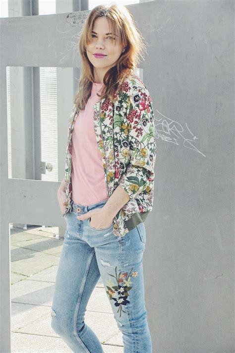 Tas Beckham Flower Embroidry 6806j2 fashion challenge denim trend the floral embroidered