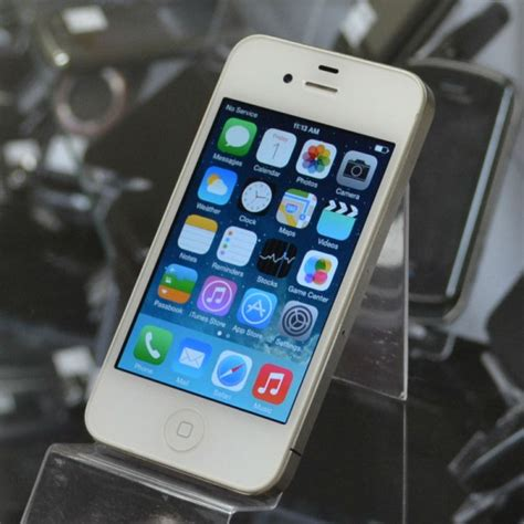 apple iphone 4 8gb white excellent used at t smartphone for sale