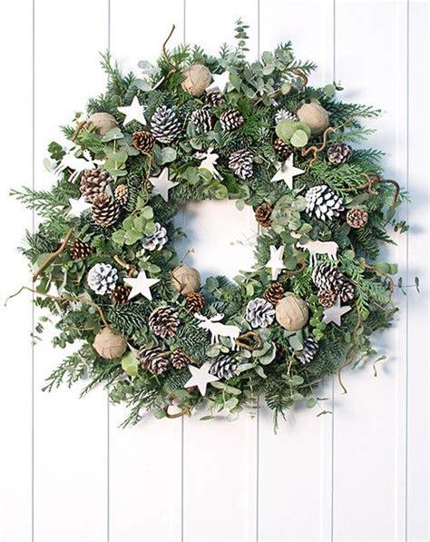vogue living christmas wreath classic white nordic wreath wreath rendieren kerstmis en kerstkransen