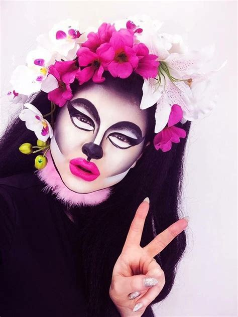 Black Panda Pink Mc 39 best my makeup costume images on drag