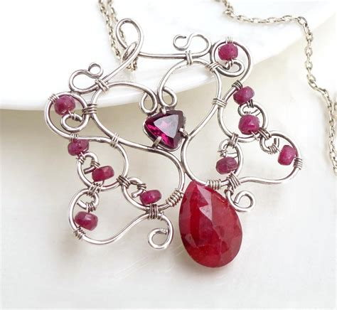 katherine handmade earrings red ruby and sterling by lotusstone 17 best images about celtic jewelry on pinterest copper