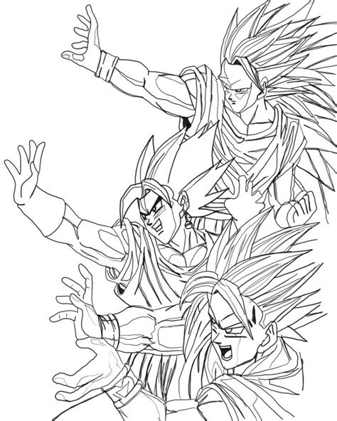 coloring pages z free coloring pages of goku 8