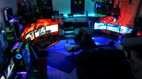 pc gaming room my furious pc gaming rig 2013 tron derezzed remix youtube
