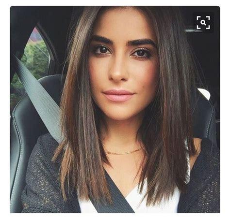 shoulder length blunt cut blunt cut mid length potential haircuts pinterest