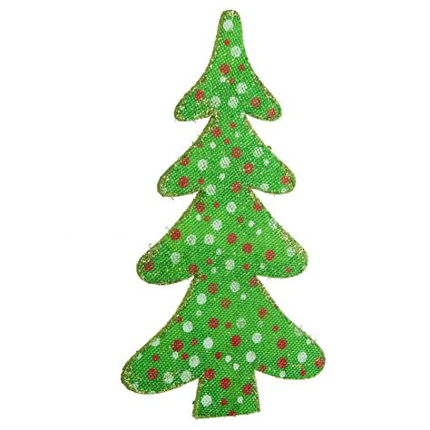 12 quot christmas tree ornament green polka dot 82595gn