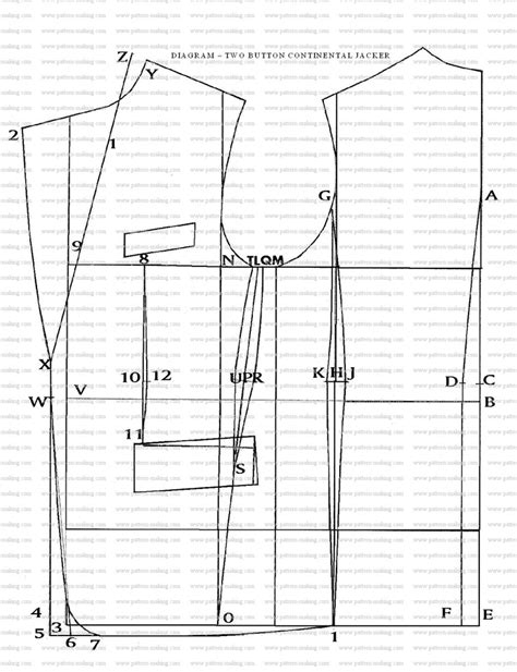 pattern drafting jeans how to draft the two button jacket pattern making