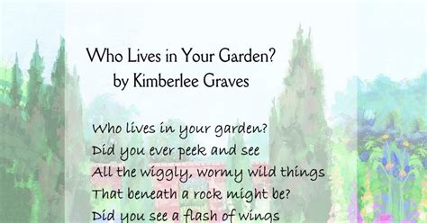 Garden Poems by Learning Who Lives In Your Garden Poetry