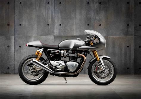 triumph cafe kit 2016 triumph thruxton r fitted with a track racer