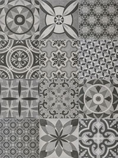 retro pattern wall tiles vintage grey mix tiles direct limited
