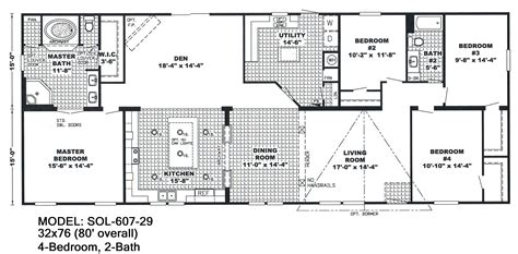 one bedroom modular home floor plans 4 bedroom double wide mobile home floor plans unique