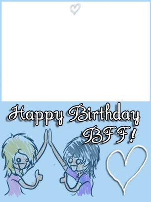 printable birthday cards for friends blue bff birthday cards