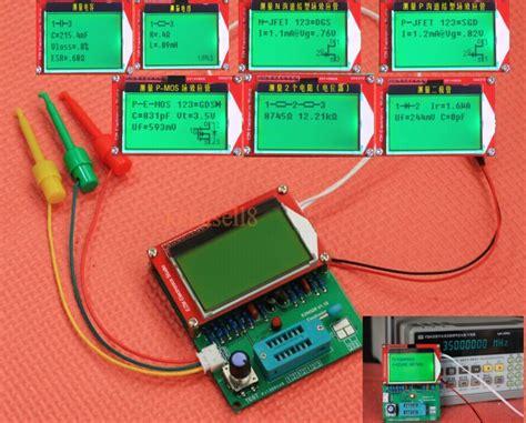 mos capacitor measurement diy kits mega328 transistor tester mpn npn mos esr frequency lcr diode capacitor meter square