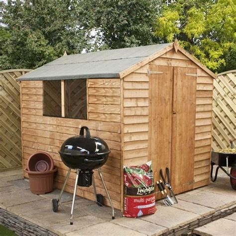 8 x 6 waltons overlap apex wooden shed