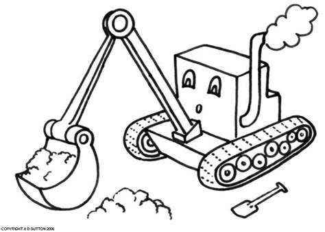 Digger Coloring Pages digger colouring pages page 2
