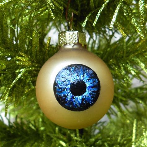 blue eye ornament weird christmas decoration ready to ship
