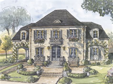 french style home plans house plan marseille stephen fuller inc 3908 sqft