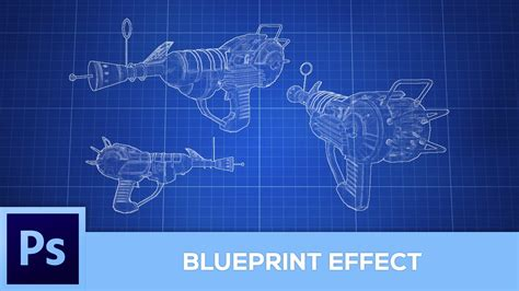 creating blueprints how to create a blueprint effect photoshop tutorial