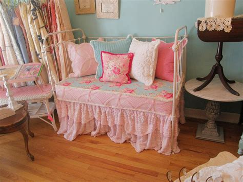 shabby chic daybed antique iron baby crib antique
