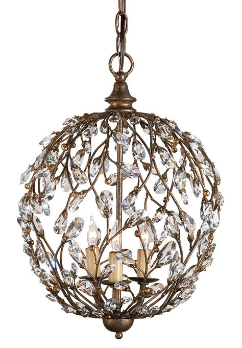 James Moder Chandelier Currey And Company 9652 Crystal Crystal Bud Sphere Mini