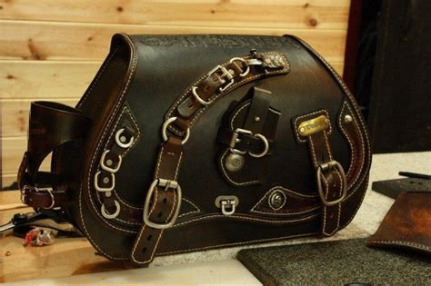 Handmade Saddlebags - 100 handmade custom design leather saddle side bag