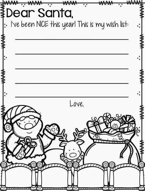 dear santa template kindergarten letter december rowdy in room 300