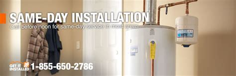 water heater installation replacement at the home depot