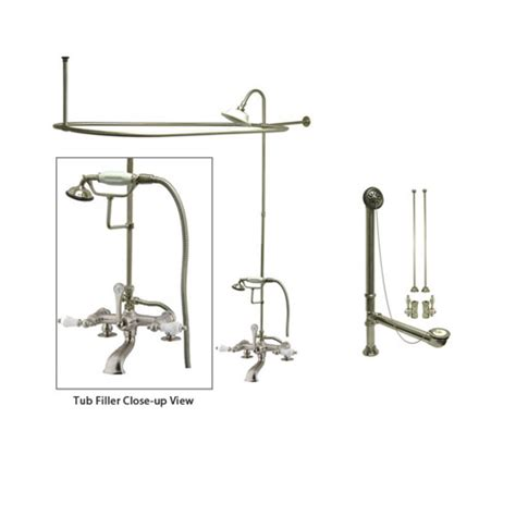 Used Clawfoot Tub Shower Kit by Satin Nickel Clawfoot Tub Faucet Shower Kit With Enclosure