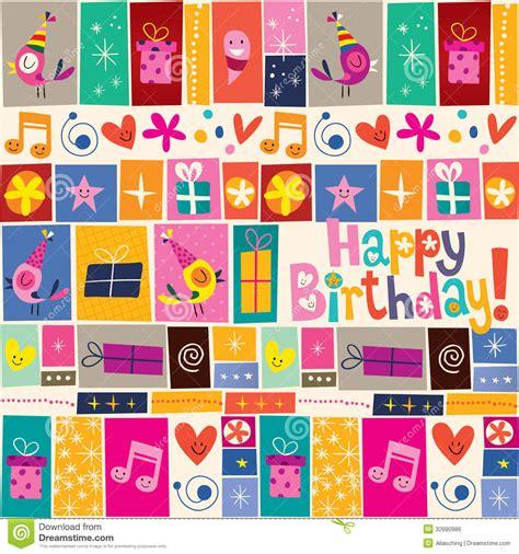 pattern energy card happy birthday pattern stock vector image of enjoy