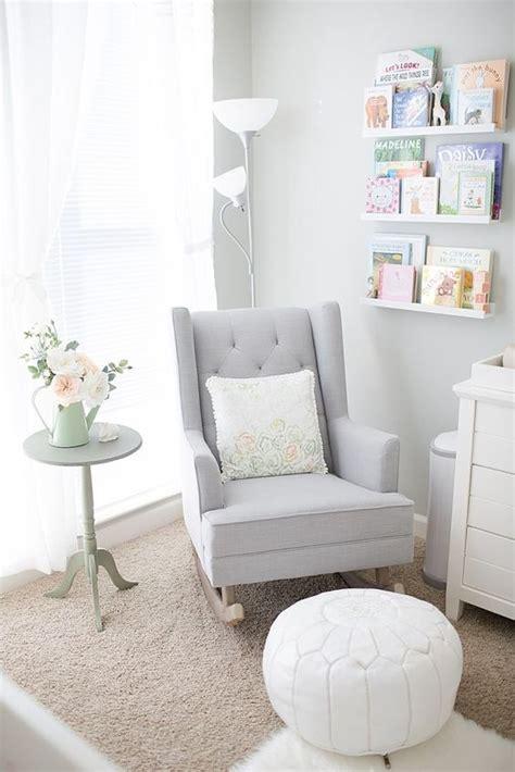 Gray Nursery Rocking Chair Soft And Feminine Garden Nursery Tour Gardens Grey Walls And Grey