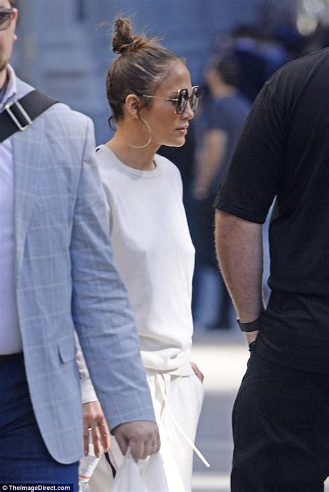 No Details On Jlo by Goes Bra Free In Track Suit For Nyc Meeting