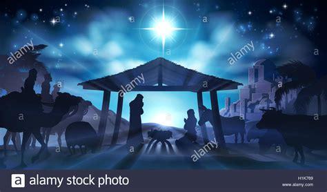 christian christmas nativity scene christian christmas nativity scene of baby jesus in the